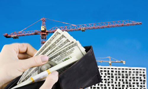 purse full of money to buy a new home